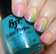 17 adorable rainbow ombre nail art design ideas