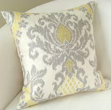 Grey Decorative Pillows Yellow And Gray Throw Pillows