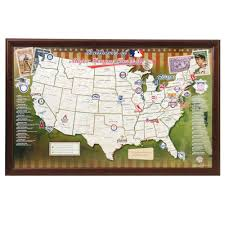 Personalized World Map by The Personalized Baseball Ballpark Map Hammacher Schlemmer