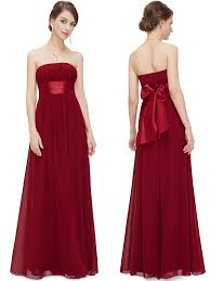 burgundy dress for wedding strapless chiffon burgundy dress patterns for wedding 2016