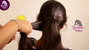 simple and easy pony hair style for college girls hairstyles