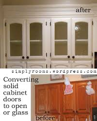 How To Build A Solid Wood Door Diy Changing Solid Cabinet Doors To Glass Inserts Doors