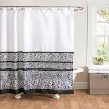 And Black Fabric For Curtains Surprising Design Ideas Black And Grey Shower Curtain Buy White