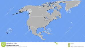 Pandas Map North America Map In 3d Stock Illustration Illustration Of North