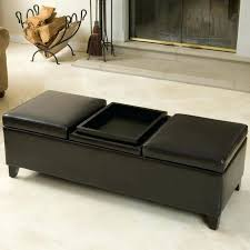 Square Leather Ottoman With Storage Leather Ottoman Storage Size Of Small Square Leather