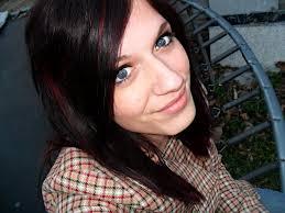 burgundy hair with blonde highlights medium hair styles ideas