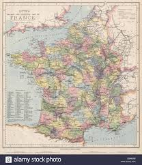 France Regions Map by France Railways Wine Growing Regions Are Shaded Letts 1889