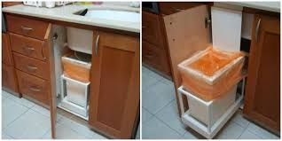 Pull Out Trash Can 15 Inch Cabinet Garbage Can Hacks How To Organize Your Garbage