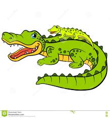 cartoon animals for kids mother alligator stock vector image