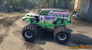 original grave digger monster truck pastana gravedigger monster trucks v1 0 for spin tires 2014