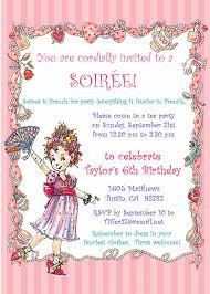 fancy nancy party invitation diy printable birthday tea