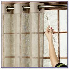 Sliding Curtain Rods Sliding Door Curtain Rod Without Center Bracket Patios Home