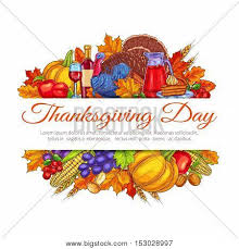 thanksgiving day greeting card vector photo bigstock