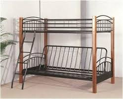 Wood And Metal Bunk Beds Futon Wood Metal Bunk Bed Pacific Imports Inc