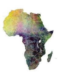map 4 africa watercolor world map colored jbjart fashion and designe