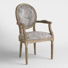 Round Armchairs Dove Paisley Paige Round Back Armchair World Market