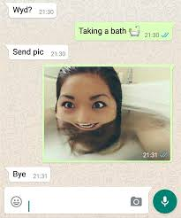 Bathroom Selfie Meme - this man just asked a girl to send him a naked bath selfie and