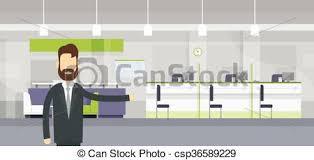 le bureau banquier moderne bureau accueil ouvrier banquier banque geste