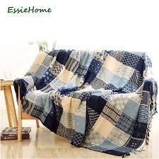 plaide pour canapé essie accueil canapé couverture chenille bleu beige plaid bohême