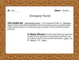 share stock certificate template u2013 21 free word pdf format