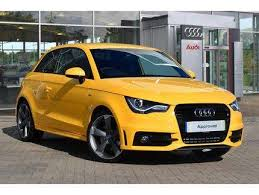 used audi ai for sale used 2014 64 reg imola yellow metallic audi a1 1 4 tfsi 185