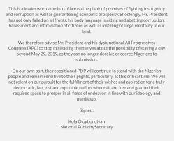 siege mentality definition official pdp nigeria on 2019 you are deceiving yourself