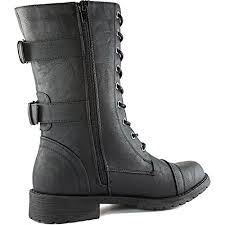 womens boots mid calf dailyshoes s combat lace up mid calf high credit