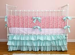 Pink And Aqua Crib Bedding Coral Crib Bedding Set Bedroom Ideas And Inspirations