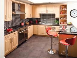 Long Kitchen Cabinets Kitchen Black Flooring Idea Also Modern Wood Kitchen Cabinets