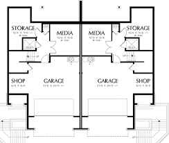 Corner Lot Duplex Plans Modern Style House Plan 3 Beds 2 50 Baths 2861 Sq Ft Plan 48 261