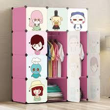 diy clothing storage 12 doors folding children clothes closet plastic wardrobe cabinet