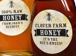 custom vintage honey bottle labels gifts for backyard beekeepers
