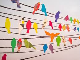 Hanging Paper Bird Decorations 406 Best Bird Art Projects Images On Pinterest Visual