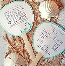 Hand Fan Wedding Programs Beach Theme Wedding Programs Outside The Box Wedding