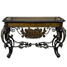 Iron Console Table Wrought Iron Console Table Gold Accents Storeroom On Main