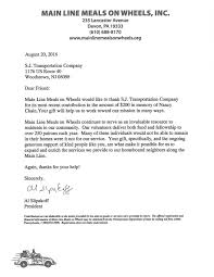 Thank You Letter For Attorney Services by Charity Thank You Letters Sj Transportation