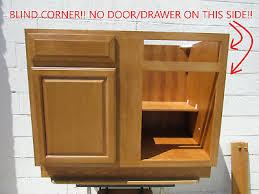 oak kitchen cabinet base 42 x 34 1 2 x 24 blind base kitchen cabinet solid wood oak vo bbc42 nib ebay