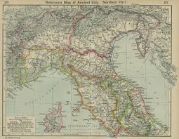 North Italy Free Map Free by Historical Atlas By William R Shepherd Perry Castañeda Map