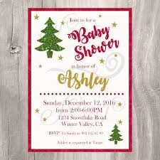 Christmas Baby Shower Invitations - holiday baby shower invitations create mickey mouse invitations online