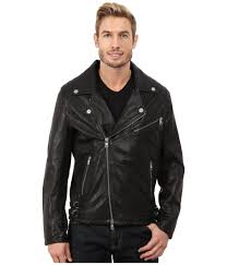mens leather biker jacket dkny washed leather biker jacket black capsule in black for men
