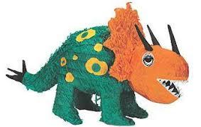 dinosaur pinata this prehistoric triceratops dinosaur piñata spills modern treats