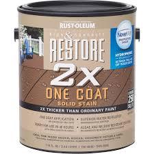 rust oleum restore 2x one coat solid exterior stain walmart com