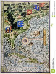 Map North America Medieval Map Of North America And Florida Stock Photo Image 8528740