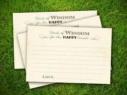 bridal shower words of wisdom cards bridal shower words of wisdom cards hnc