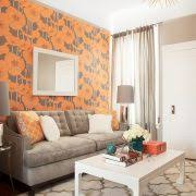 austin orange and gray bedroom contemporary with orange and gray