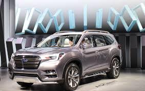 New Subaru 7 Seater New Subaru Ascent Aims To Climb Busy Hill Of Crossover Suvs News