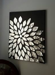 black and white painting ideas diy wall art blank canvas aluminum foil and mod podge diy black