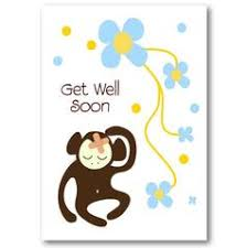get well soon for children monkey get well soon card not another bunch of flowers