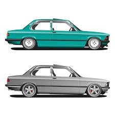 bmw car png bmw e21 1980 illustration by ooo illustrations pinterest
