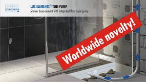 Installing Basement Shower Drain by Lux Elements Product Flush With The Floor Shower Base Tub Pump
